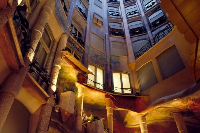 visit night pedrera origins courtyards