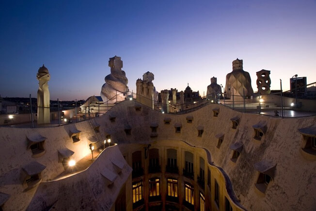visit night pedrera roof gaudi