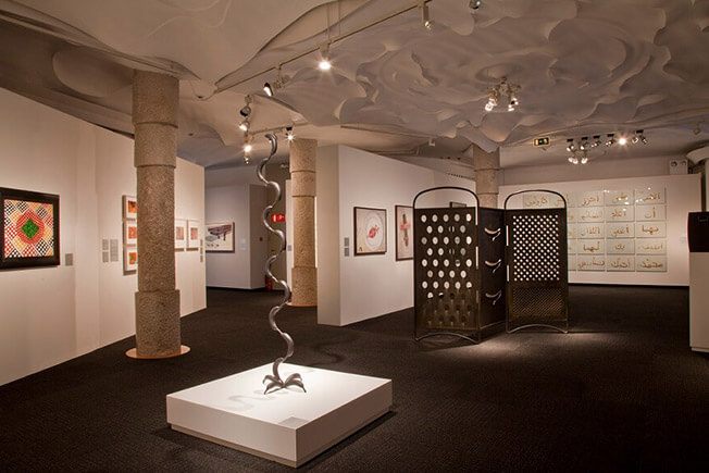 visit pedrera by day expositions room