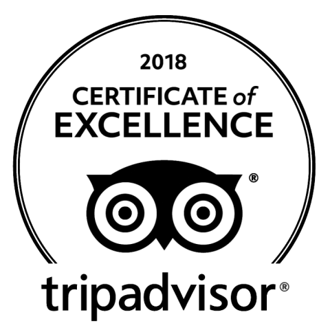 TripAdvisor 2018 Certificate of excellence